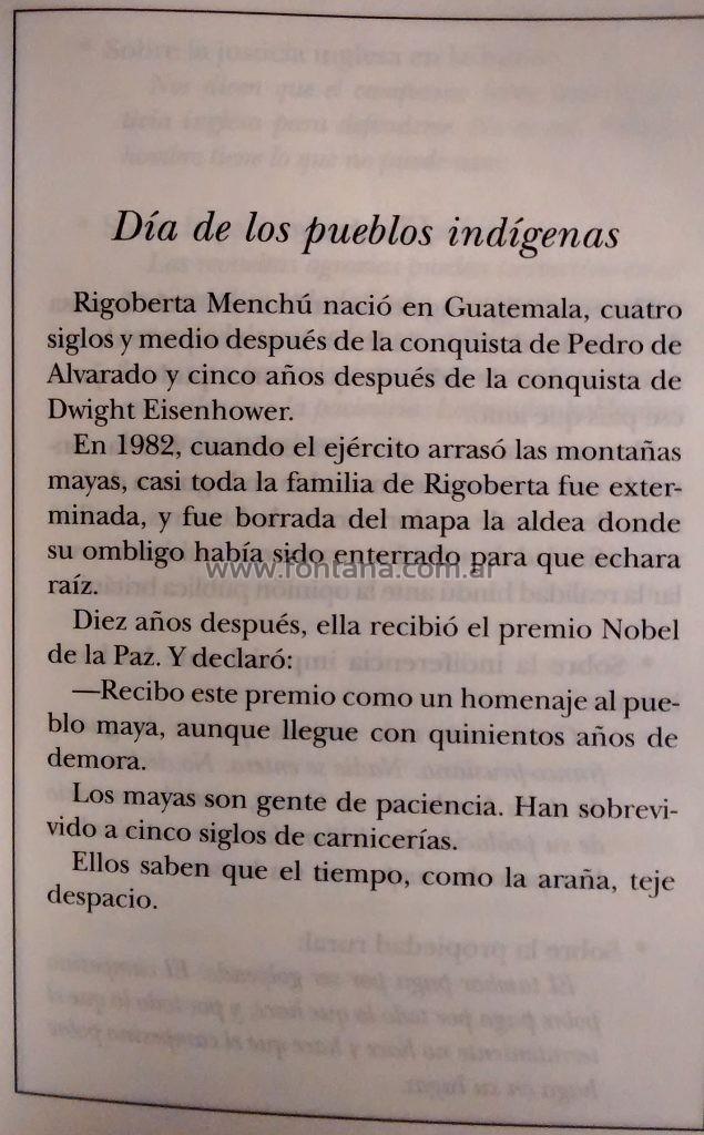 Día de los pueblos indigenas – El libro de los abrazos